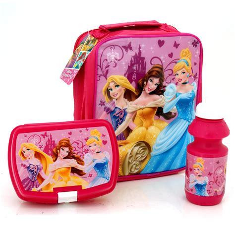 Lunch Box Set Disney Princess disney princess childrens school lunch bag drinks bottle