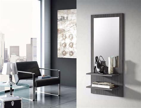 decoracion con espejos y repisas repisa recibidor con espejo moderno elegante