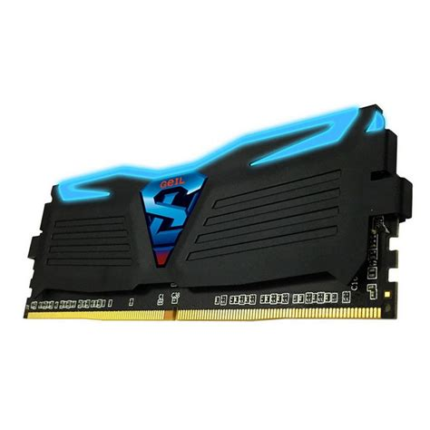 Team 8gb 2x4gb Ddr4 3000 Pc4 24000 geil luce ddr4 3000 pc4 24000 8gb 2x4gb cl16 negro led azul pccomponentes