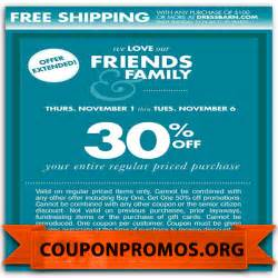 free printable dress barn coupon january 2017