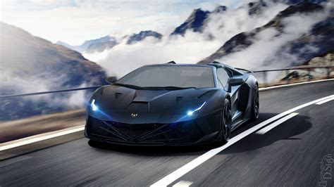lamborghini aventador car and speed