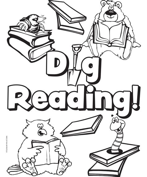 summer reading coloring page 118 best coloring images on pinterest coloring books