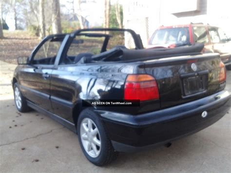 volkswagen convertible black 1995 volkswagen cabrio wolfsburg black convertible 5 speed