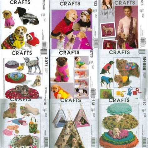 cat clothes pattern sew mccalls craft pet dog cat bed clothes sewing pattern ebay