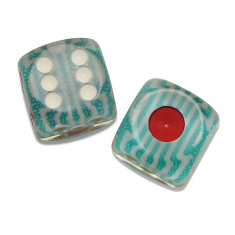 Blue Striped Set Turquoise Striped Dice Set Of 2 Where The Winds
