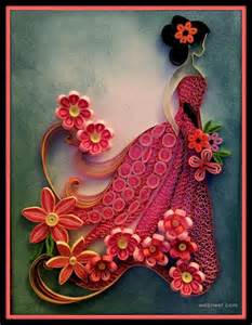 Paper Craft Quilling Designs - 25 beautiful quilling flower designs and paper quilling cards