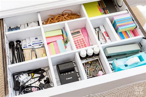 diy desk drawer dividers in my own style
