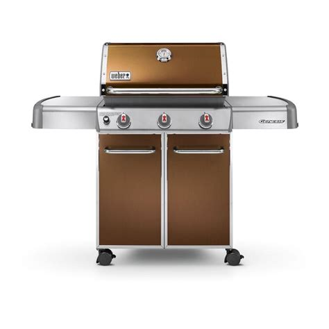 weber genesis e 310 3 burner propane gas grill in copper
