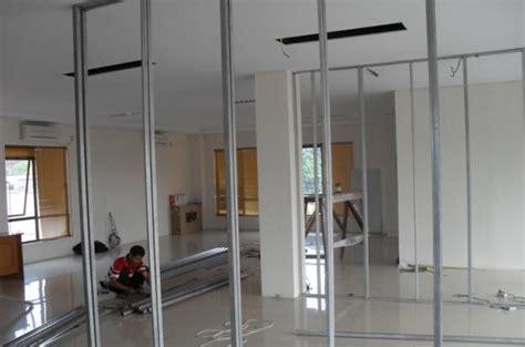 Penyekat Ruangan Finishing 2 Sisi Dan Jasa Pemasangan cara memasang partisi renovasi123