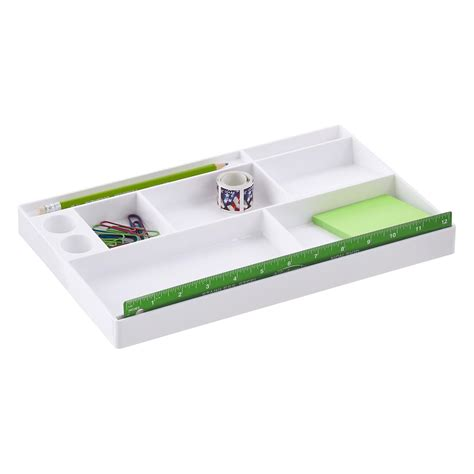container store desk organizer office drawer organizer tray the container store
