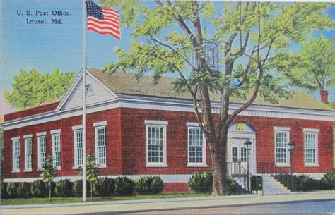 Maryland Post Office by Laurel Maryland Post Office Post Card