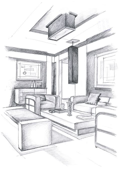 Perspective Drawing For Interior Design by Interior Design Drawings Perspective Www Imgkid