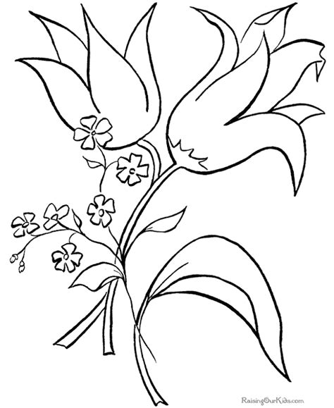 coloring pages of easter flowers april flower coloring pages top coloring pages