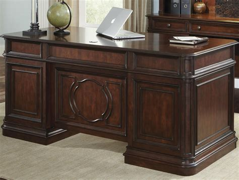 traditional executive desk with 5 drawers by liberty