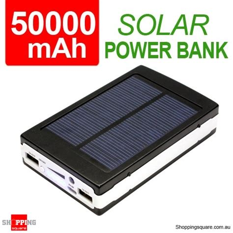 Power Bank Solar Samsung 50000mah solar dual usb port power bank rechargeable battery for iphone samsung galaxy