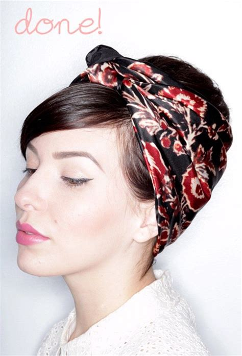 how to wear a bandana with short hair 1000 ideas about short hair scarves on pinterest