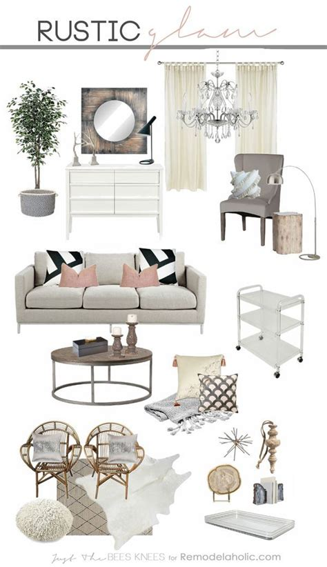 Rustic Glam Home Decor Tips For Decorating In A Rustic Glam Style A Great Blend Of Sparkly And Chic With Some