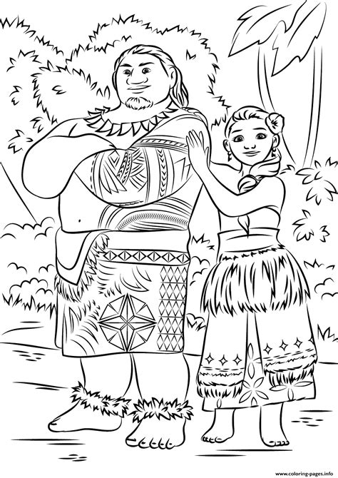 coloring pages disney moana print tui and sina from moana disney coloring pages