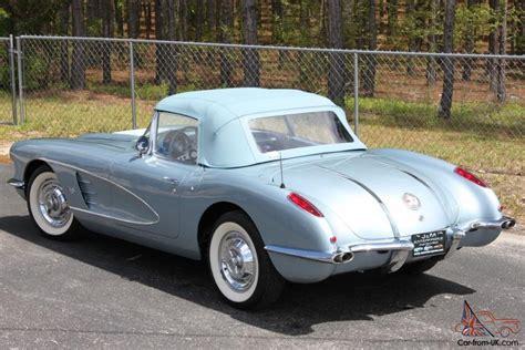 1958 corvette blue blue 1958 corvette for sale related keywords