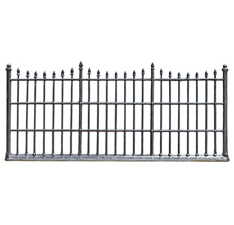 wrought iron fence sections wilhelm schweizer quot wrought iron fence quot