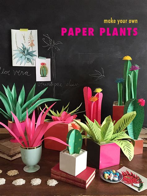 How To Make Paper Bushes - diy paper plants