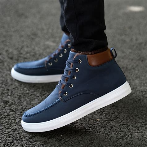 mens winter sneakers 2015 new outdoor sneakers winter boots mens warm cotton