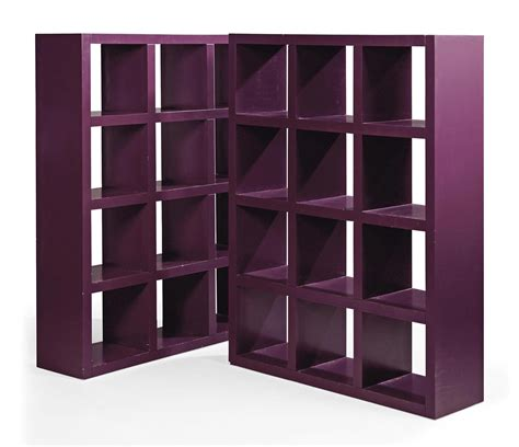 a pair of modern italian purple lacquered open book