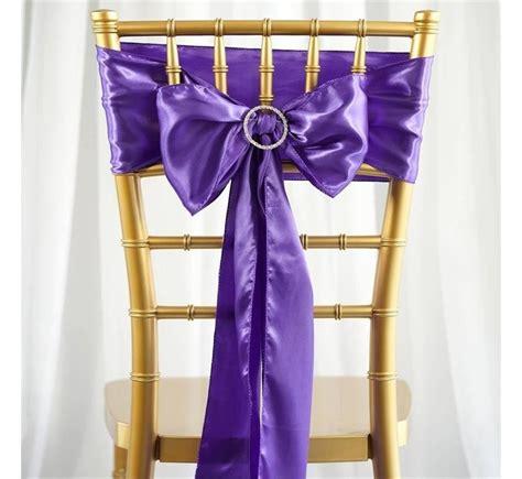 noeud de chaise violet noeud de chaise mariage satin violet les couleurs du