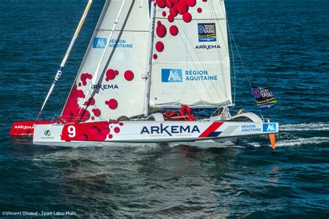 trimaran pir2 multihulls match taking part in the route du rhum with a