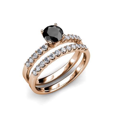 and cheap black wedding ring sets for