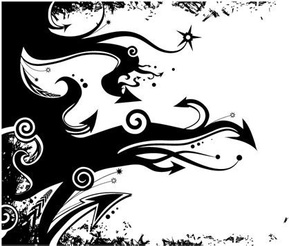 flower graphic design black and white | flower inspiration