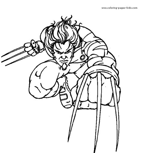 X Men Color Page Cartoon Color Pages Printable Cartoon Color Your Own Wolverine