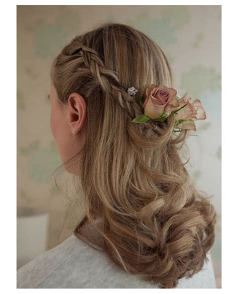 wedding hair up plaits half up half wedding hair for brides and bridesmaids