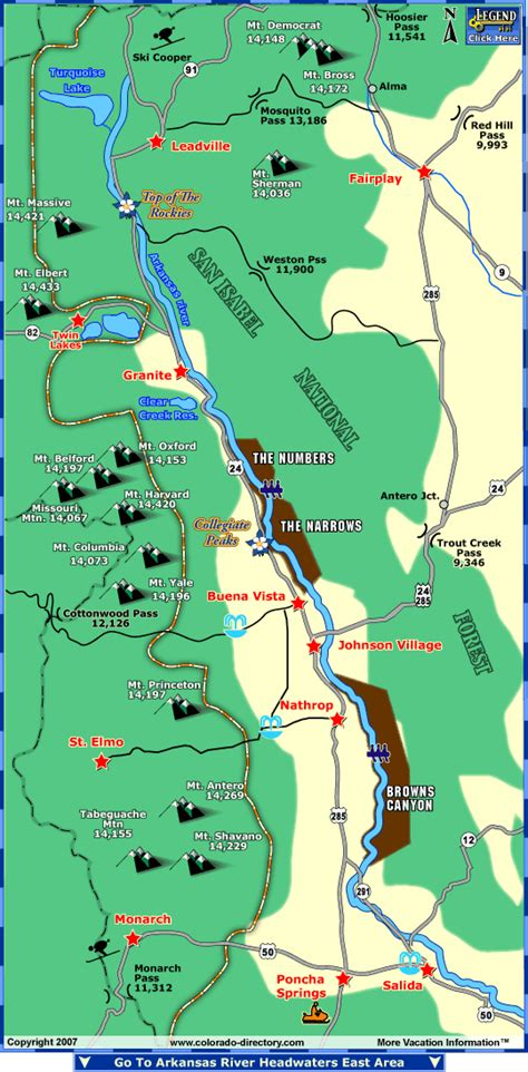 us map with arkansas river arkansas river headwaters fishing map colorado