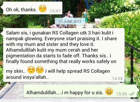 Rs Collagen rs marine collagen by johor bahru team testimoni