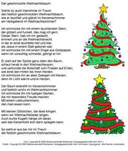 gedicht der geschm 252 ckte weihnachtsbaum medienwerkstatt