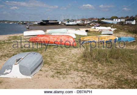 boat house essex house boat on west mersea island stock photo royalty free