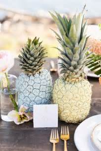 paper pineapple centerpiece tropical pastel wedding inspiration ruffled
