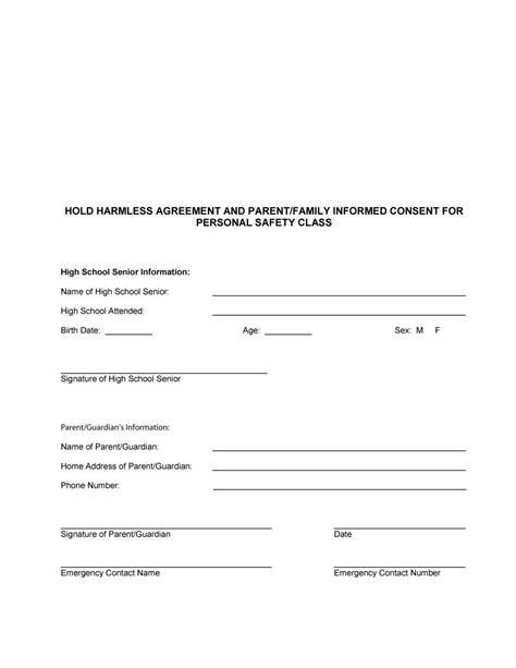 40 hold harmless agreement templates free template lab