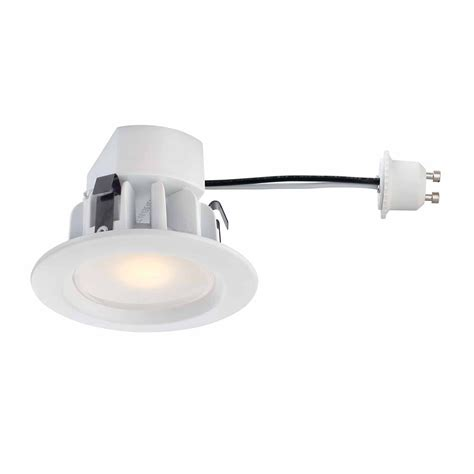 recessed led retrofit light trim commercial electric recessed led white retrofit trim gu10