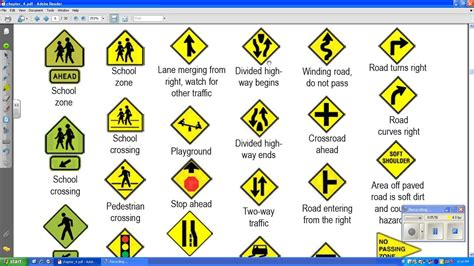 printable road signs for nc 8 best images of road sign practice test printable
