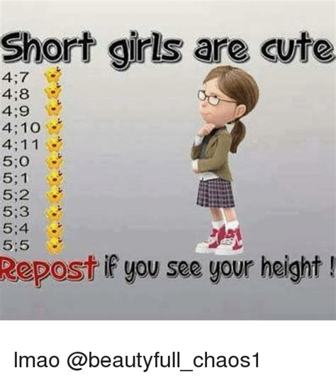 What Is Meme Short For - short girls are cute 47 48 410 411 51 s 52 53 54 repost if