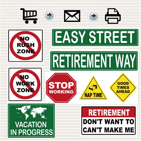 Printable Retirement Road Signs | retirement party printable signs kit road signs travel