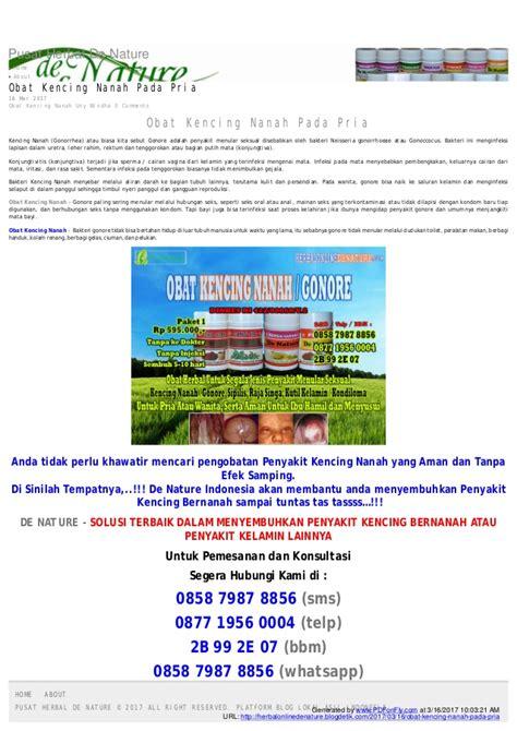Best Quality Obat Kencing Nanah Gonore De Nature Herbal 6 obat kencing nanah yang paling uh