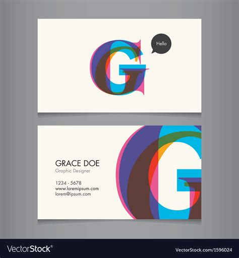 Credit Card Template Us Letter Svg by Business Card Template Letter G Royalty Free Vector Image