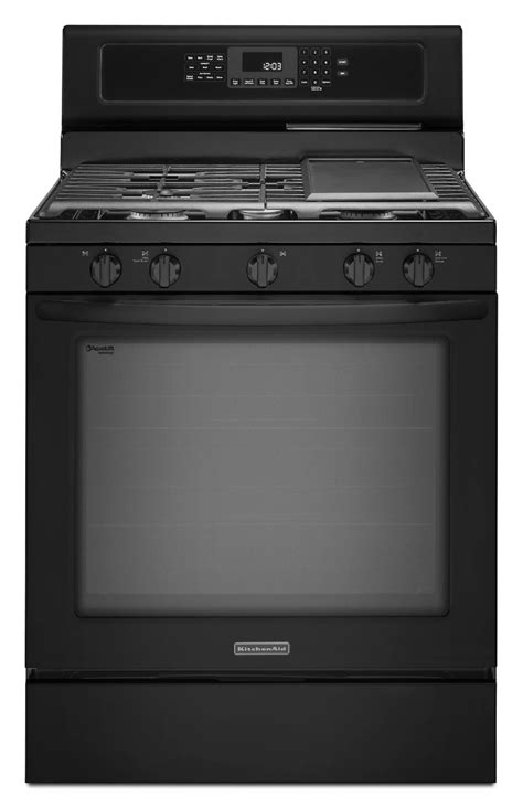 Kitchenaid Appliances Registration Kitchenaid Kgrs303bbl 5 8 Cu Ft Freestanding Gas