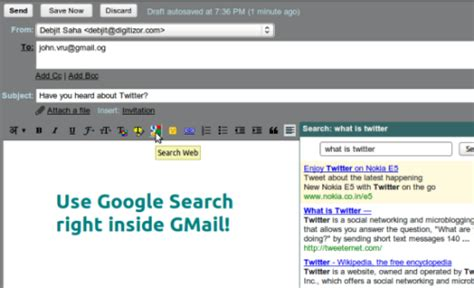 Search Gmail Users By Email How To Use Search Inside Gmail While Writing E Mail Gmail Labs