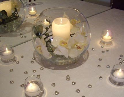 fish bowl wedding centerpieces with daisies wholesale