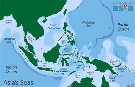 asia sea map the seas of asia underwaterasia info