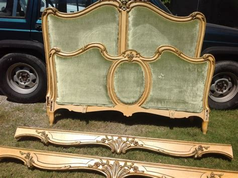 Vintage Headboard L by Vintage Antique Louis X1v Rococo Wood Carved